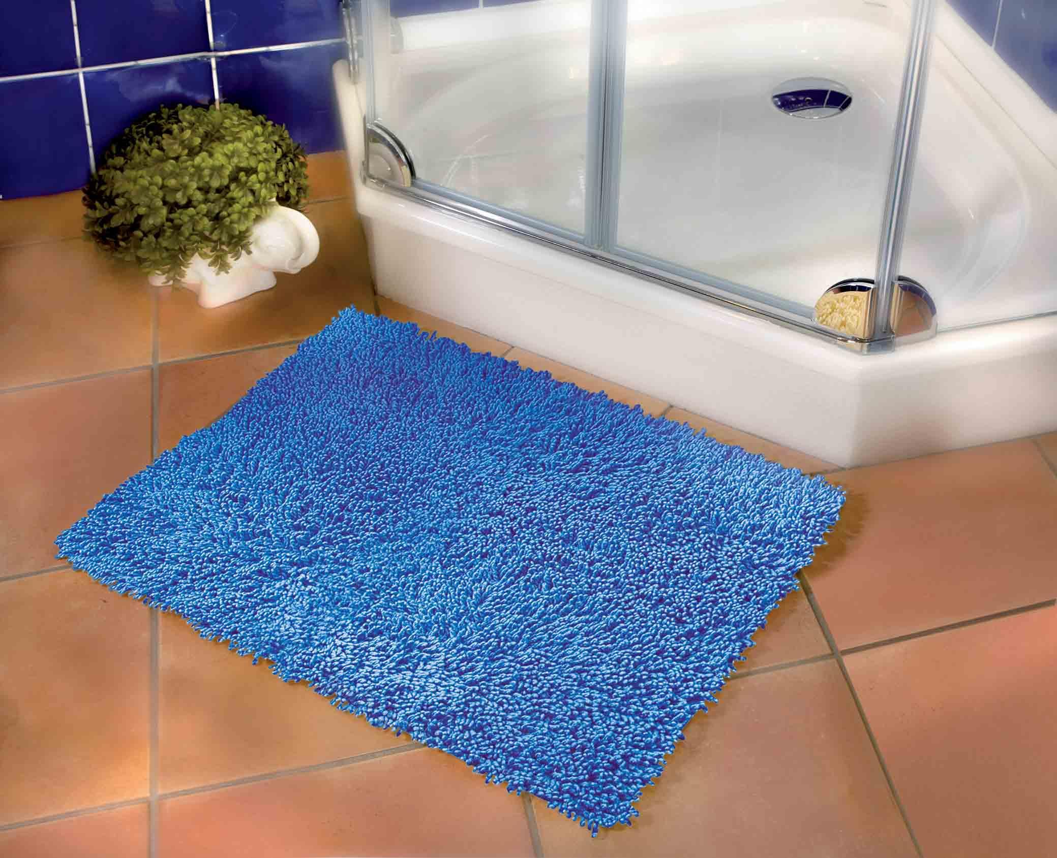 Fluffy bathroom rugs